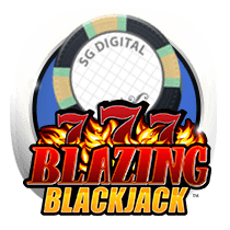 Blackjack Blazing 7's card-and-table