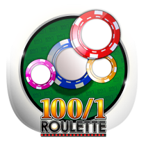 100 to 1 Roulette card-and-table