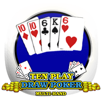 Ten Play Draw Poker card-and-table