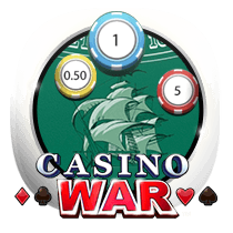 Casino War card-and-table